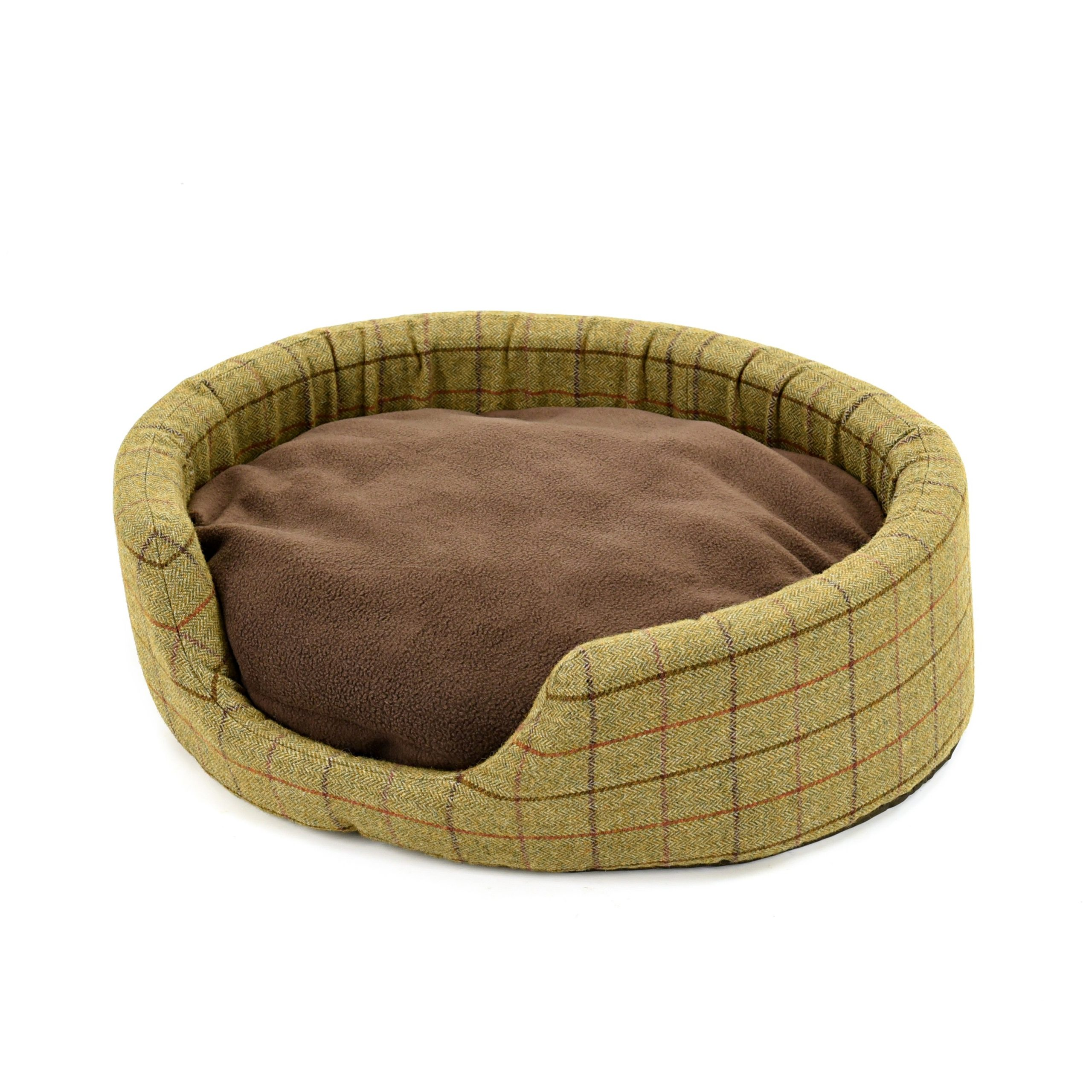 Green Tweed Dog Bed