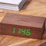 Walnut Flip Click Clock