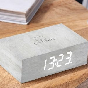 White Birch Flip Click Clock