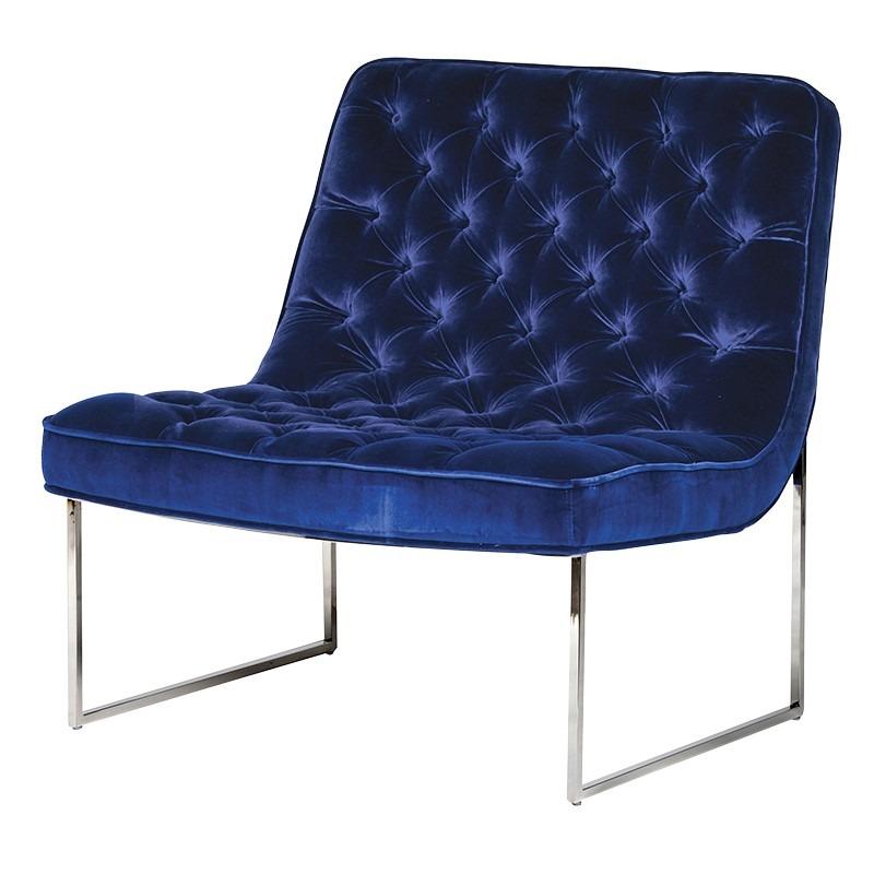 Navy Velvet Club Chair Club Chair