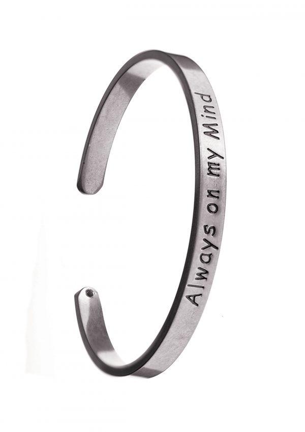 Always On My Mind Silver Bracelet