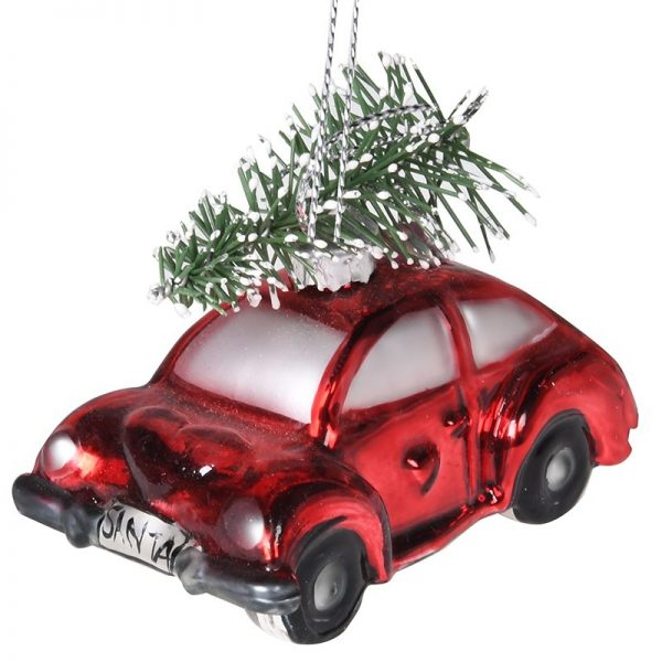 Red Car Christmas Bauble