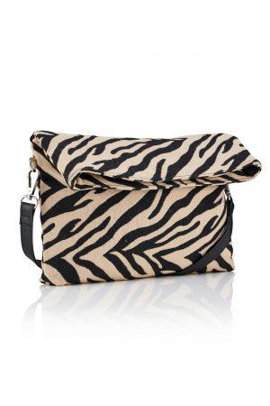 Zebra Print Cross Body Clutch Bag