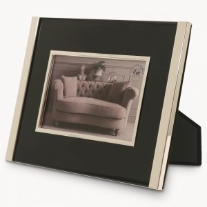 Silver Photo Frame with Black Inlay