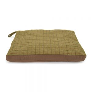 Green Tweed Dog Bed Small