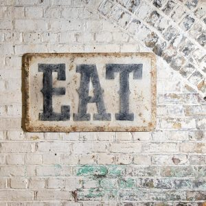 Eat Well Wall Plaque