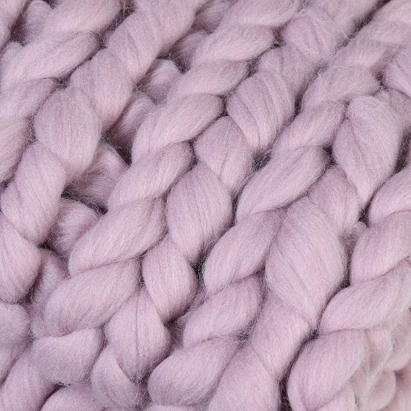 Blush Chunky Iceland Thick Yarn Blanket