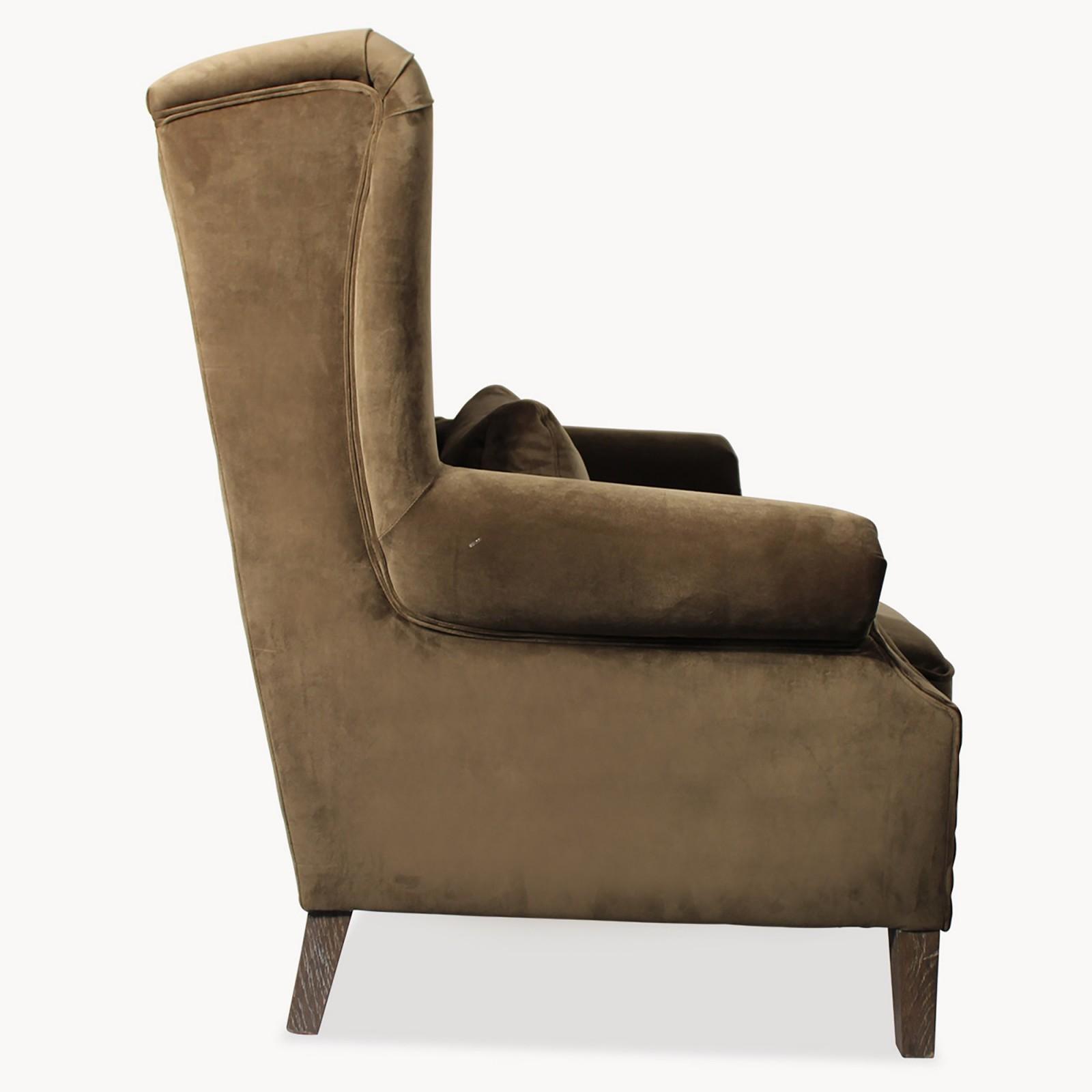 Dark Green Velvet Story Telling Chair