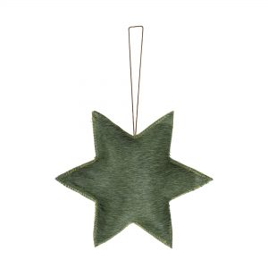 Green Hide Star Hanging Decoration