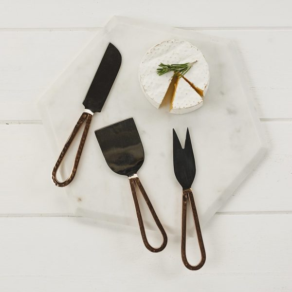 Set of 3 Copper Cheese Knives