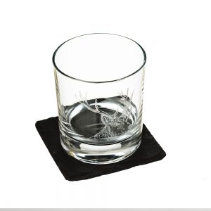 Tumbler with Slate Coaster Gift Set