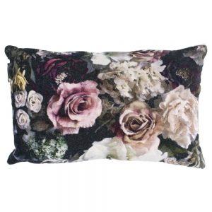 Velvet Rose Print Cushion