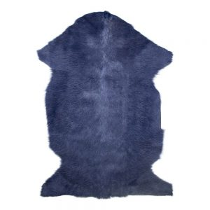Over Dyed Navy Goat Skin Rug