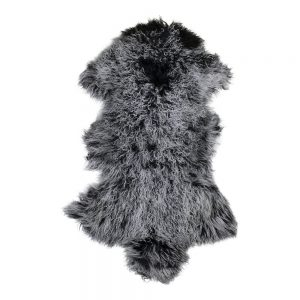 Dark Grey Tibetan Sheepskin Rug