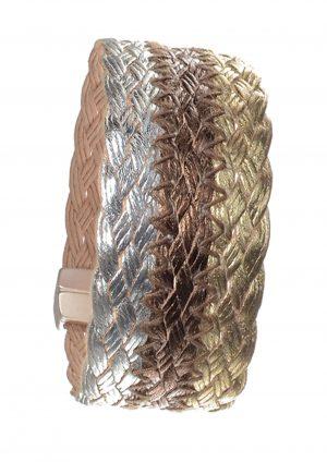 Woven Trypitch Cuff Bracelet