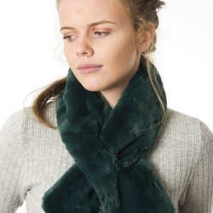 Forest Green Faux Fur Collar