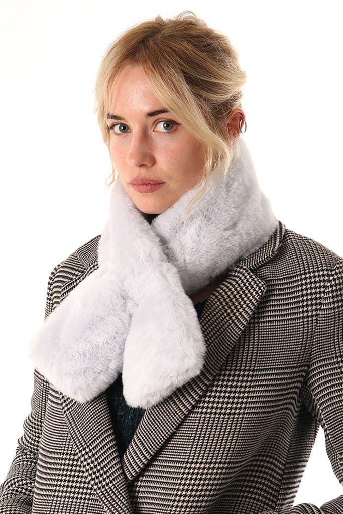 Ice Grey Faux Fur Collar