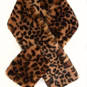Faux Fur Leopard Print Collar