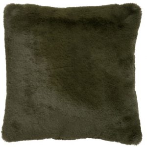 Olive Faux Fur Cushion