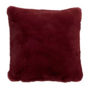Red Faux Fur Cushion