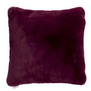 Purple Faux Fur Cushion