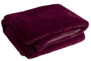 Purple Faux Fur Throw