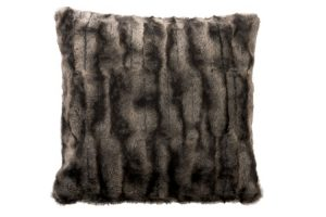 Black & Grey Faux Fur Cushion