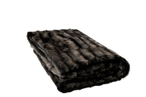 Black & Grey Faux Fur Throw