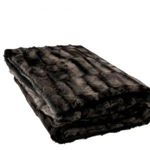 Black & Grey Faux Fur Throw