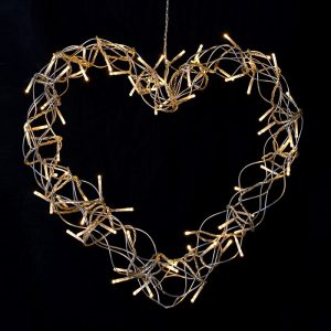 Heart Led Wreath