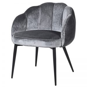 Dark Grey Petal Dining Chair