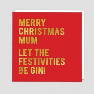 Greetings Card Mum Gin