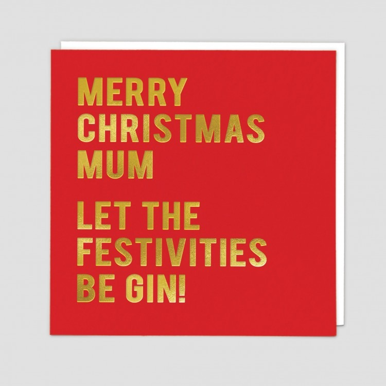 Greetings Card Mum Gin