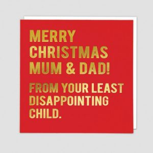 Greetings Card Xmas Parents