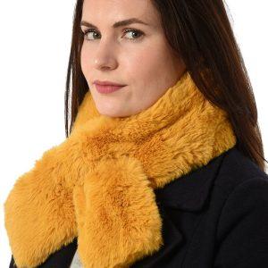 Mustard Faux Fur Collar