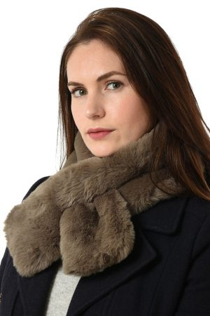 Taupe Faux Fur Collar