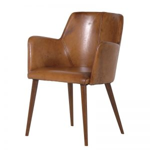 Tan Leather Office Chair