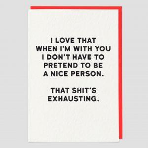 Greetings Card Exhausting