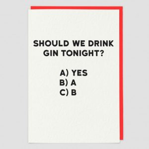 Greetings Card Gin Tonight