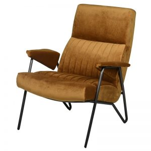 Rivington Ochre Velvet Arm Chair
