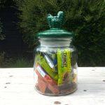 Green Cactus Top Storage Jar