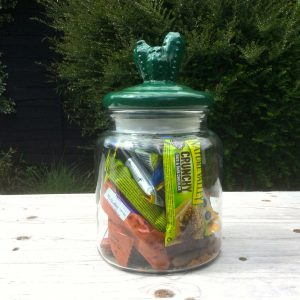 Green Cactus Top Storage Jar