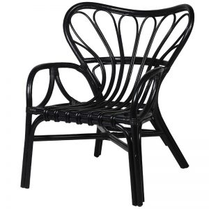 Black Butterfly Back Occasional Chair