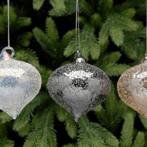 Clear Onion Christmas Hanging Bauble