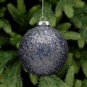 Black Glitter Hanging Bauble