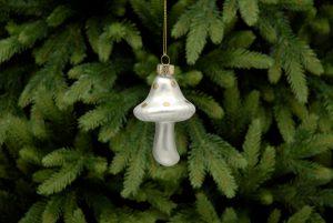 White Mushroom Christmas Hanging Decoration