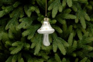White Mushroom Christmas Hanging Decoration