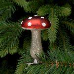 Clip on Glass Mushroom Decoration