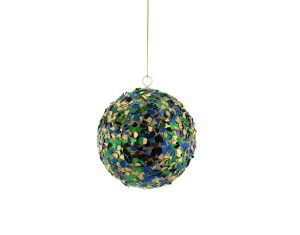Multicoloured Sequin Ball Hanging Decoration