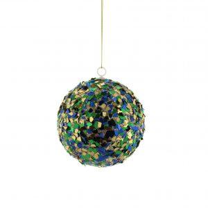 Multicoloured Sequin Ball Hanging Decoration